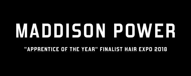 "MIG'S MADDISON POWER FROM ELLA&JADE – ""APPRENTICE OF THE YEAR"" FINALIST HAIR EXPO 2018"